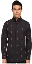 Vivienne Westwood Firm Krall Collar Diamond Cross Button Up