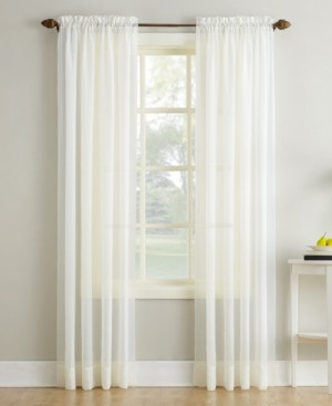 "No. 918 Crushed Sheer Voile 51"" x 63"" Curtain Panel"