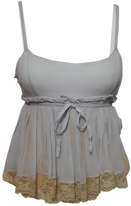 Miu Miu Grey Silk Top for Women
