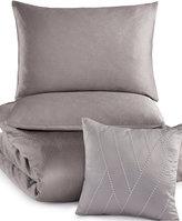 INC International Concepts Rizzoli Gunmetal Full/Queen Comforter Set