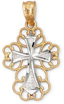 JCPenney FINE JEWELRY 14K Gold Filigree Cross