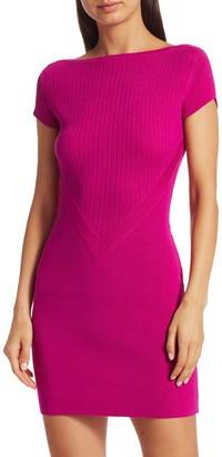 Knit Mini Wool Bodycon Dress