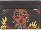 Bally Black Printed Luxury Grained Cardholder