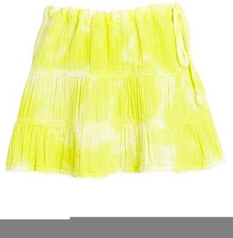HONORINE Jane Tie-Dye Cotton Mini Skirt