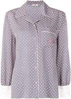 Fendi embroidered logo silk shirt