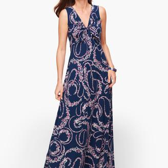 Talbots Tie Front Maxi Dress - Floral Swirl