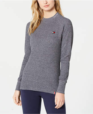 Tommy Hilfiger Mock-Neck Flag Thermal Top
