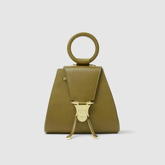 Okhtein Green Mankara Gold-Tone Buckle Backpack