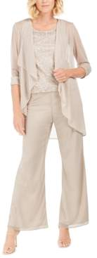 R & M Richards 3-Pc. Embellished Pantsuit