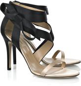 Bow-detail satin sandals