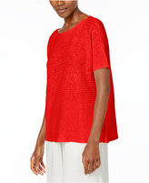 Eileen Fisher Organic Linen-Cotton Boxy Sweater