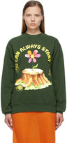 Thumbnail for your product : Online Ceramics SSENSE Exclusive Green 'You Can Always Start Over' Sweatshirt