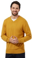 Maine New England Big And Tall Dark Yellow V Neck Jumper
