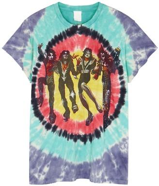 MadeWorn Kiss Destroyer tie-dyed cotton T-shirt