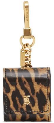 Burberry leopard print leather earphone case