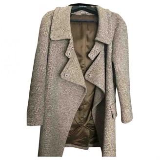 Miu Miu Brown Wool Coat for Women