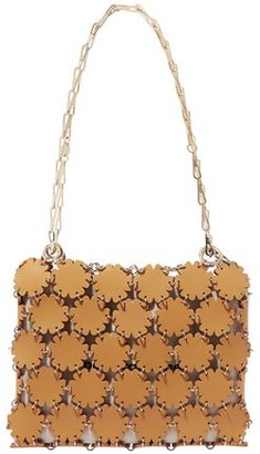 Paco Rabanne Blossom 1969 Laser-cut Leather And Canvas Shoulder Bag