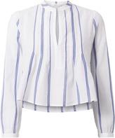 A.L.C. Sawyer Crop Stripe Woven Shirt