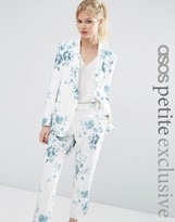 Asos SALON Blazer in Blue Floral Print