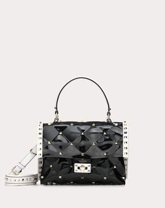 Valentino Garavani Candystud Handbag In Coloured Polymer Women Black Pvc - Polyvinyl Chloride 100% OneSize