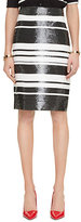 Kate Spade Sequin cape stripe pencil skirt