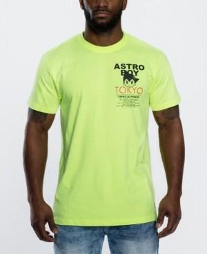 Southpole Men's Astroboy Applique Patch Graphic T-shirt
