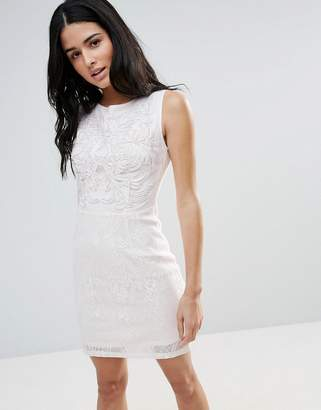 Asos Zibi London Jacquard Shift Dress-Pink
