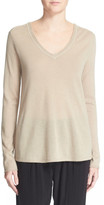 ATM Anthony Thomas Melillo V-Neck Raw Edge Cashmere Sweater