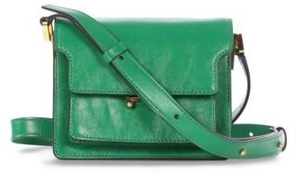 Marni Trunk Mini Leather Cross-body Bag - Green
