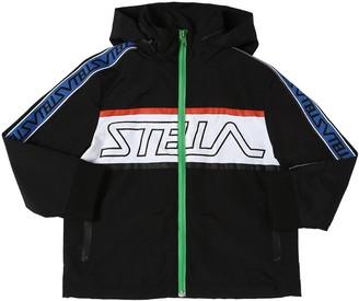 Stella McCartney Kids Logo Print Recycled Nylon Jacket