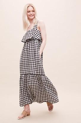 Beaumont Organic Arya-Gee Gingham Linen Dress