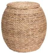 Household Essentials Large Water Hyacinth Wicker Storage Basket