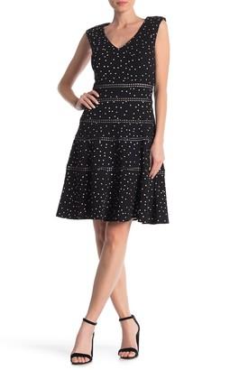 Taylor Polka Dot Fit & Flare Dress (Regular & Plus Size)
