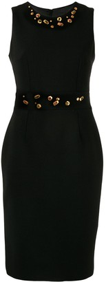 Paule Ka Embellished Midi Dress