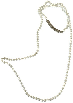 Kenneth Jay Lane White Pearls Necklaces