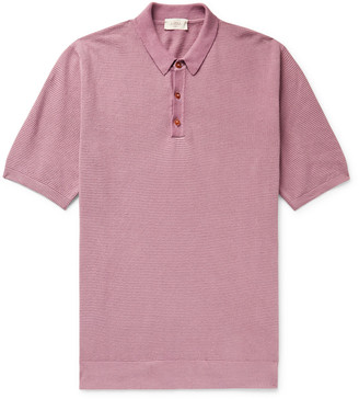Altea Textured Linen And Cotton-Blend Polo Shirt