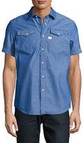 G Star Short-Sleeve Chambray Sportshirt