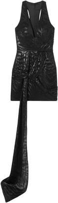 HANEY Lexi Draped Fil Coupe Silk-blend Mini Dress