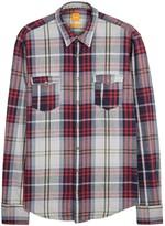 Boss Edoslime Checked Cotton Shirt