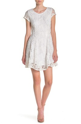 Max & Ash Short Sleeve Lace Dress