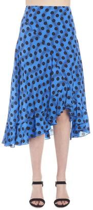 Kenzo Printed Frill Midi Skirt