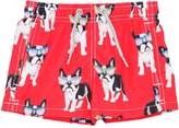 MC2 Saint Barth Striped Bulldogs Print Nylon Swim Shorts