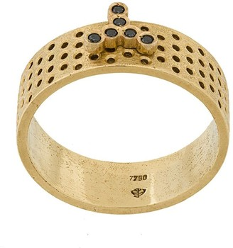 Savoir Joaillerie 18kt yellow gold and diamonds Lui ring