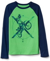 Gap Graphic long sleeve baseball tee
