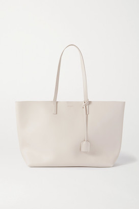Saint Laurent Leather Tote - Off-white
