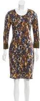Yigal Azrouel Abstract Print Silk Dress