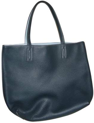 Hermes Double sens Blue Leather Handbags