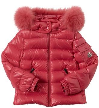 Moncler Bady Nylon Down Jacket W/ Fur