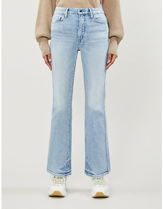Good American Good Curve slim-fit straight high-rise jeans
