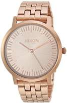 Nixon Men's 'Porter 35' Quartz Stainless Steel Casual Watch, Color:Rose Gold-Toned (Model: A1198897)